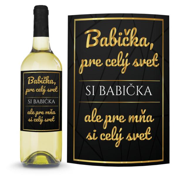 Víno Babička 0,75l