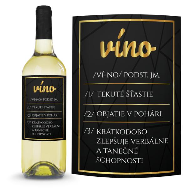 Víno Definícia vína 0,75l