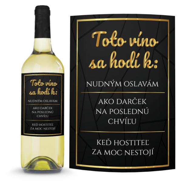 Víno K nudným oslavám 0,75l