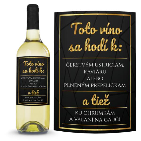 Víno Ku chrumkám 0,75l